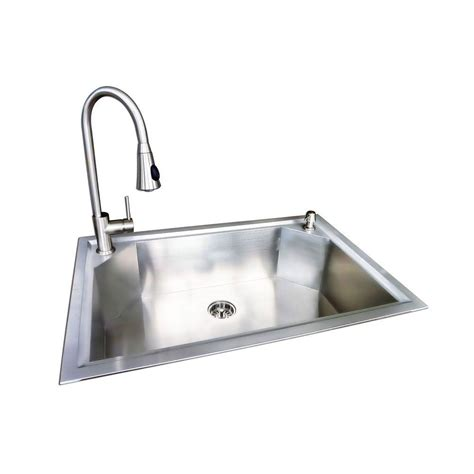 glacier bay kitchen faucet reviews glacier bay dual mount stainless steel 22 in 1