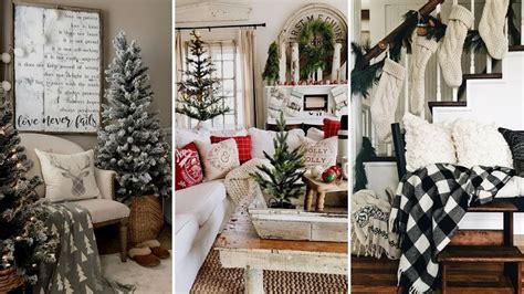 DIY Rustic Farmhouse style Christmas living room decor