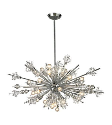 elk 11752 24 starburst 24 light 36 inch polished chrome