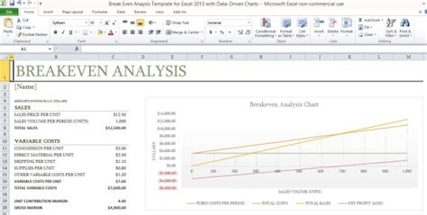even analysis excel template even analysis template for excel 2013 with data driven charts powerpoint presentation