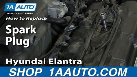 change install spark plugs   hyundai elantra