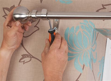 How To Put Up Curtains & Blinds Black N White Shower Curtains Iron Curtain Rod Brackets Traverse Hardware Make Your Own Beaded Madras Plaid Designer Rods Painting Canvas Drop Cloth Dark Green Panels