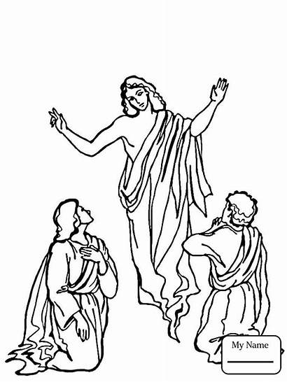 Jesus Ascension Coloring Tomb Drawing Empty Resurrection
