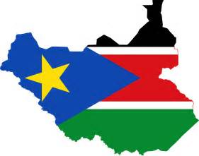 Map South Sudan Flag