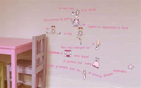 idee deco chambre ado fille stickers histoire de danse