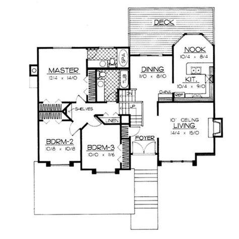 split level house plans  revival   mid  century
