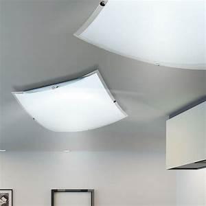 Led Design Lampen : led design decken lampe 20 watt glas leuchte k chen flur beleuchtung eckig klar in m bel ~ Buech-reservation.com Haus und Dekorationen