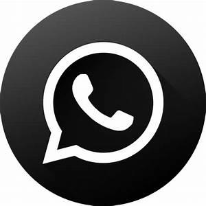 Icono Whatsapp Gratis de Social Media Black and White