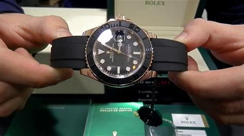 Yacht Master Rubber by Rolex Yacht Master Gold Rubber 116655 New