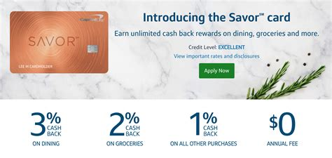 Check spelling or type a new query. CapitalOne Releases New Capital One Savor Cash Rewards Credit Card - UponArriving