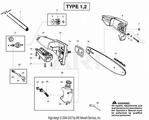 Poulan Sm446e Pole Pruner Type 1 Parts Diagram For Oil