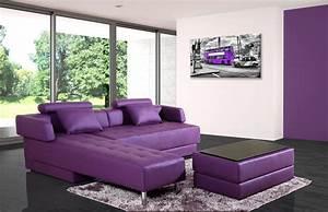 canape d39angle cuir violet reversible et convertible largo With canape d angle violet