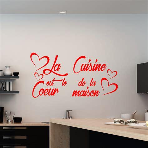 proverbe cuisine sticker citation la cuisine est le coeur de la maison
