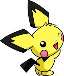 Pokemon Pikachu Colored Pichu