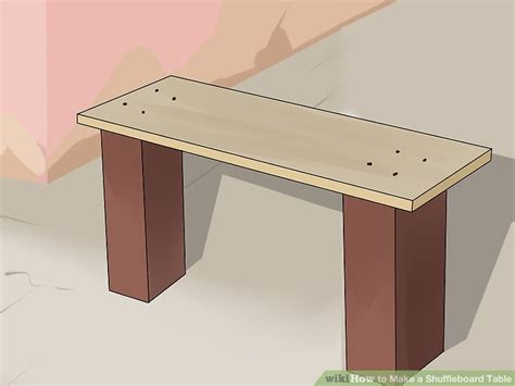 making a shuffleboard table how to make a shuffleboard table with pictures wikihow