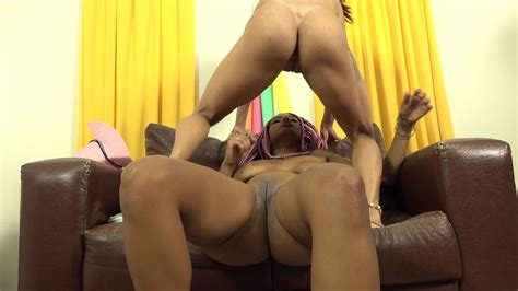 Natural Big Tits Ebony Lesbian Seduces Hot Latina Babe