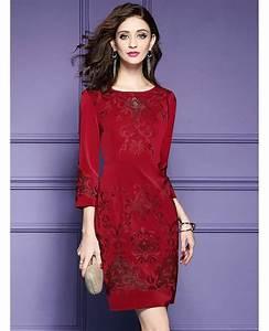 burgundy formal embroidered short dress for wedding guest With burgundy wedding guest dress