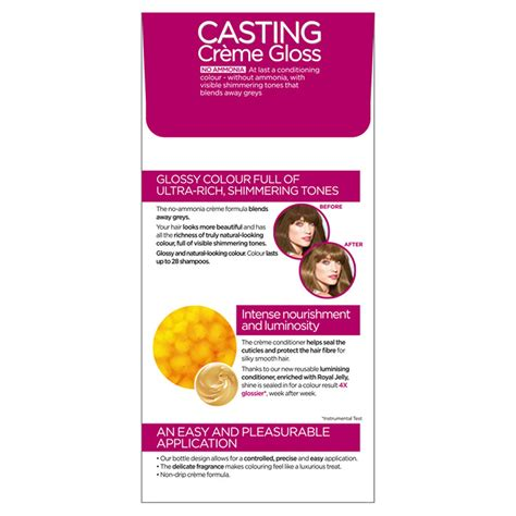 Allows for visible highlights, provides. L'Oreal Paris Casting Creme Gloss 700 Dark Blonde Semi ...