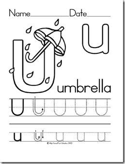 umbrella  images preschool letters