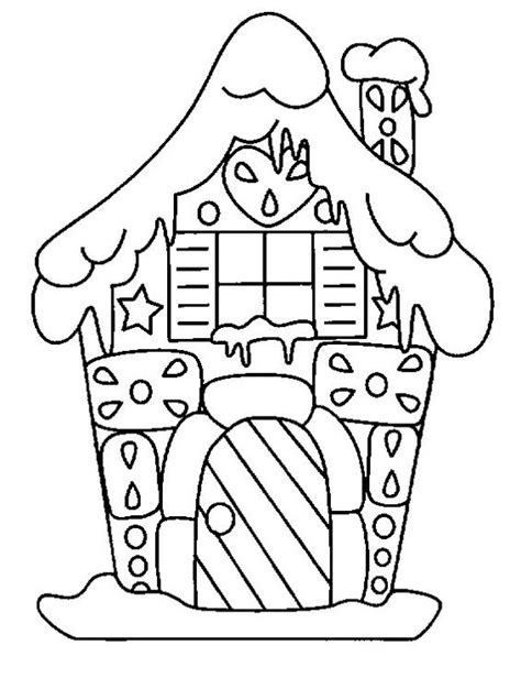 Coloring Cute house and Gingerbread houses on Pinterest