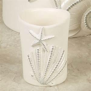 Sequin shells coastal bath accessories for Sequin bathroom sets
