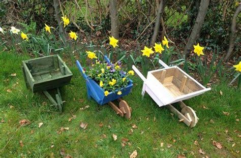 diy wooden wheelbarrow planter diy