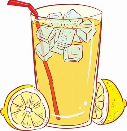 Clipart Tea Stand Drinks Iced Fizzy Yellow