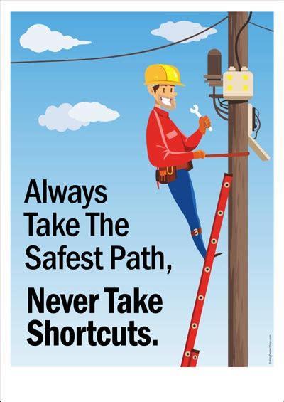 safety poster    safest path safety