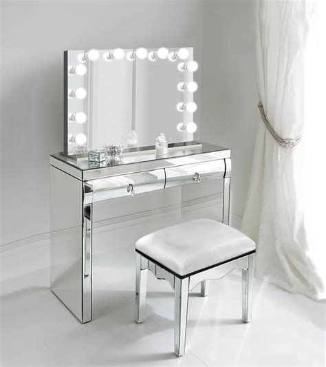 Vanity Desk Mirror With Lights by 31 Quot X 25 Quot Lighted Glam Vanity Mirror Led All