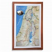 The Holy Land: In the Time of Jesus Topographical Map ...