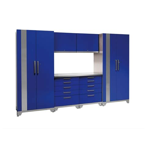 garage storage cabinets home depot newage products performance plus 83 in h x 128 in w x 24