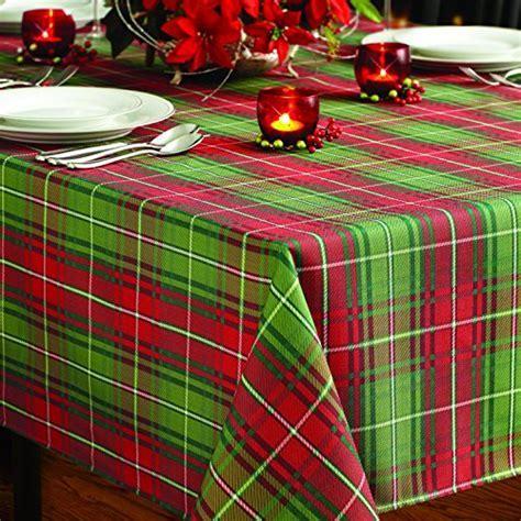 Benson Mills Christmas Plaid Printed Tablecloth, 60 Inch
