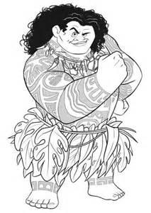 Moana Maui Coloring Pages Printable
