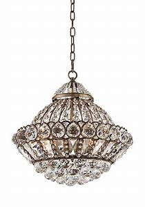 Wallingford quot wide antique brass and crystal chandelier