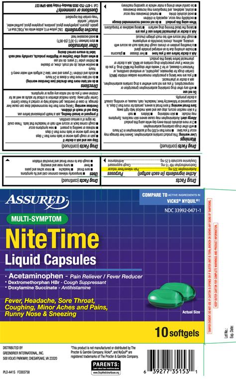 night time cold  flu relief multi symptom capsule