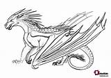 Wings Coloring Fire Dragon Nightwing Dragons Printable Guide Pyrrhia Cool Ice Creatures Sadia Mahmood Adults Hybrid Fans sketch template