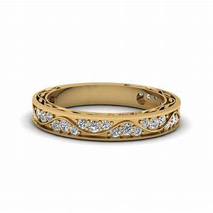 women s yellow gold diamond rings wedding promise With wedding ring bands with diamonds