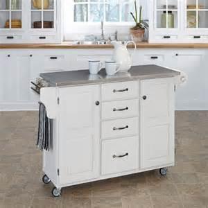 white kitchen island cart white stainless kitchen cart