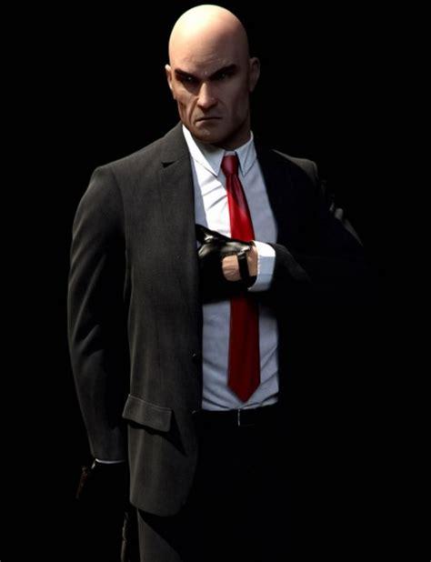 hitman costumes suit agent  cosplay black hitman suit
