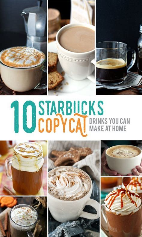 Plus, it can create a good morning routine i urge you to scroll through this amazing list with 10 healthy coffee drinks in order to find some great ideas for vegan, healthy coffee creamers and. 10 Starbucks Copycat Drinks You Can Make At Home | Coffee recipes, Copycat starbucks drinks ...