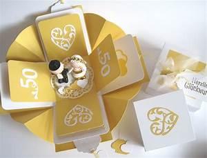 Geschenke Basteln Zur Hochzeit : geschenkverpackung geldgeschenk goldene hochzeit von blattsalat auf hochzeit ~ Bigdaddyawards.com Haus und Dekorationen