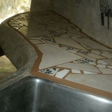 broken tile mosaic counter  steps  pictures