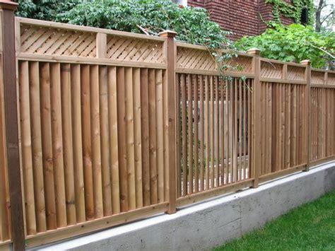 Semi Privacy Wood Fence Yard Fence Ideas
