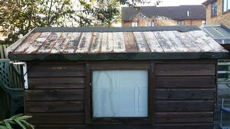 felt shed re felt shed roof roofing flat in leighton buzzard