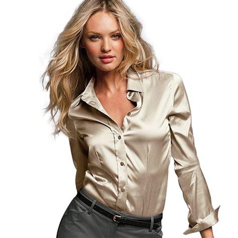 satin blouse s xxxl satin silk blouse button silk satin