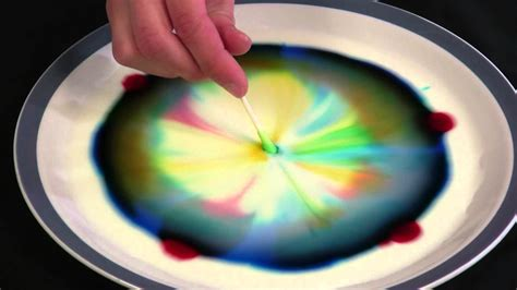 food coloring  milk experiment shocking science