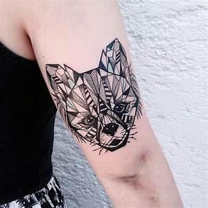 Tatouage Loup Geometrique : 1001 ideen und bilder zum thema geometrische tattoos ~ Melissatoandfro.com Idées de Décoration