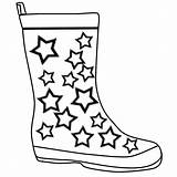 Rain Coloring Boots Clipartmag sketch template