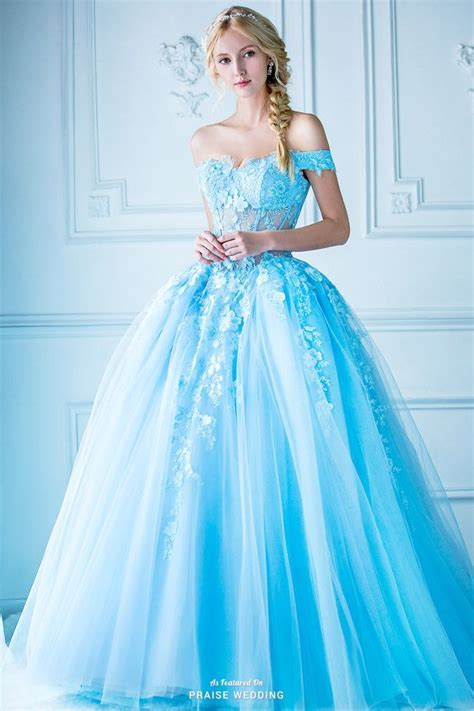 jaw droppingly beautiful blue ball gown  digio