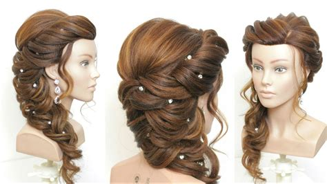 bridal prom hairstyle  long hair step  step